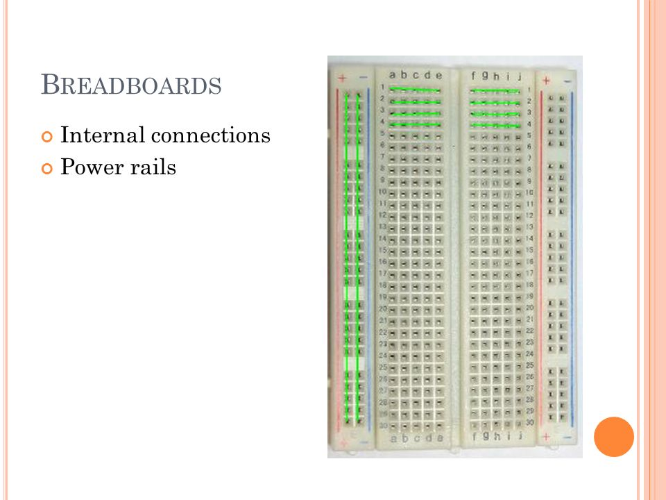B READBOARDS Internal connections Power rails