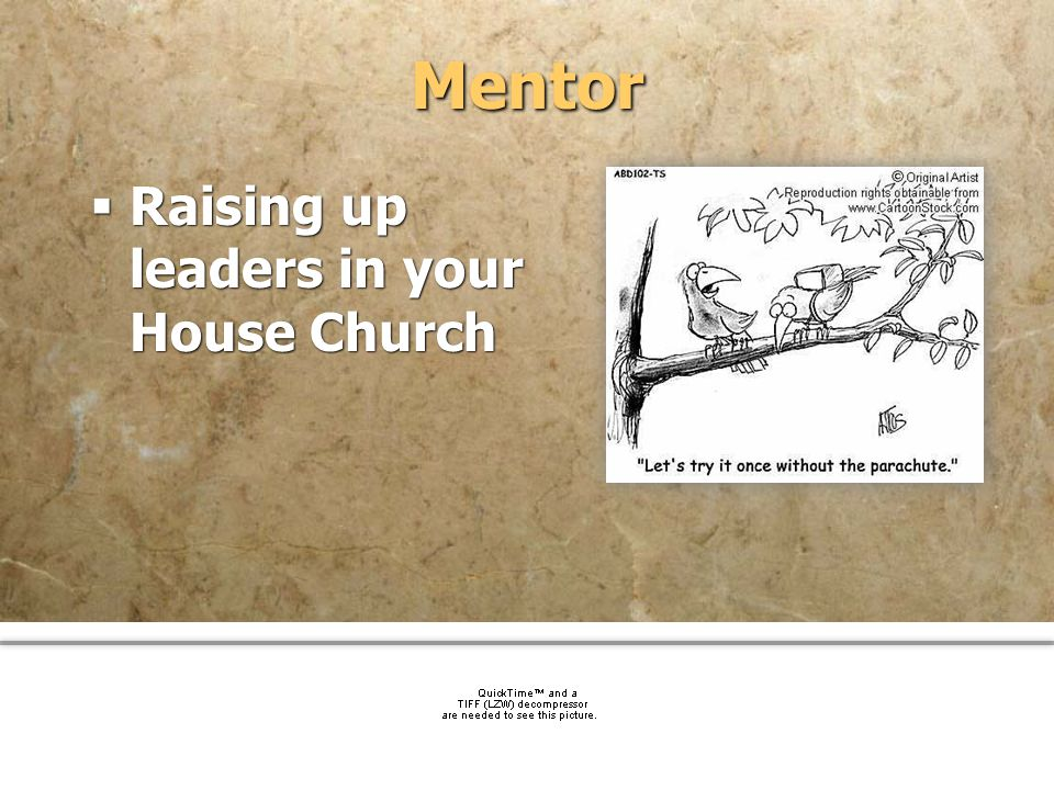 community church Mentor Raising up leaders in your House Church