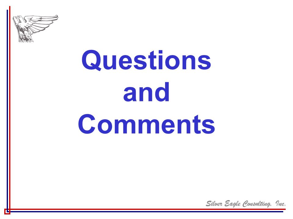 Silver Eagle Consulting, Inc. Questions and Comments