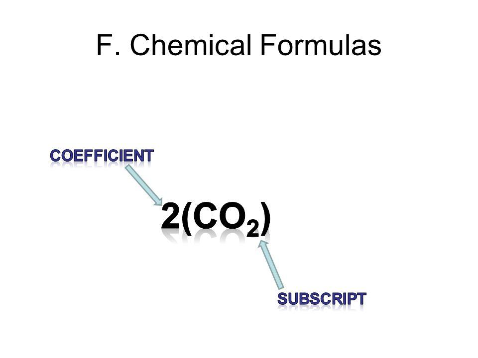 F. Chemical Formulas