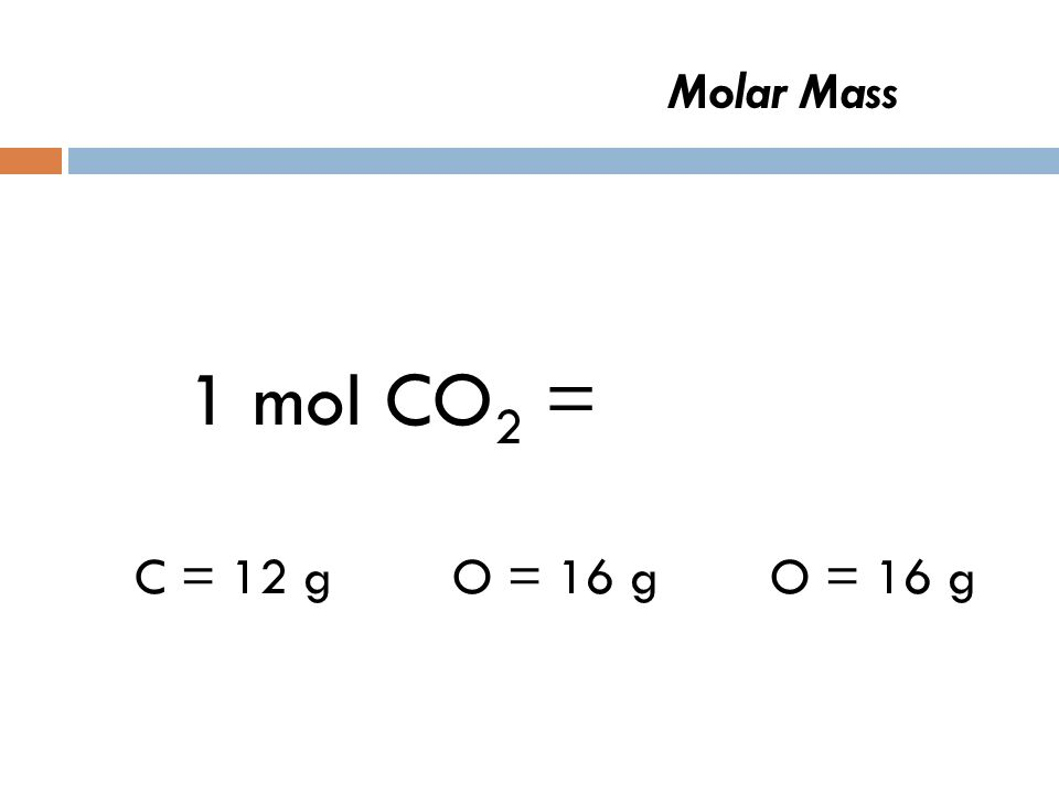 Molar Mass-Can you figure out this one?? 1 mol CO 2 =