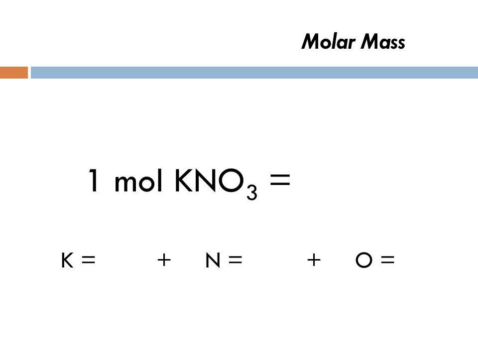 Molar Mass 1 mol CO 2 = 44 g CO 2 C = 12 g+ O = 16 g + O = 16 g