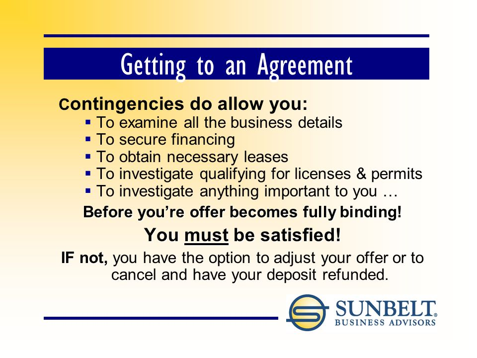 A Contingent Offer A contingent offer expresses your interest to purchase subject to your contingencies and acceptance of your price and terms.