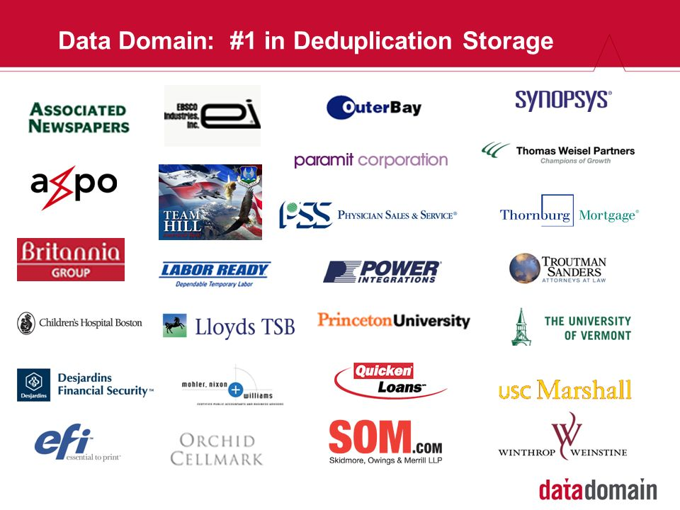 Data Domain: #1 in Deduplication Storage