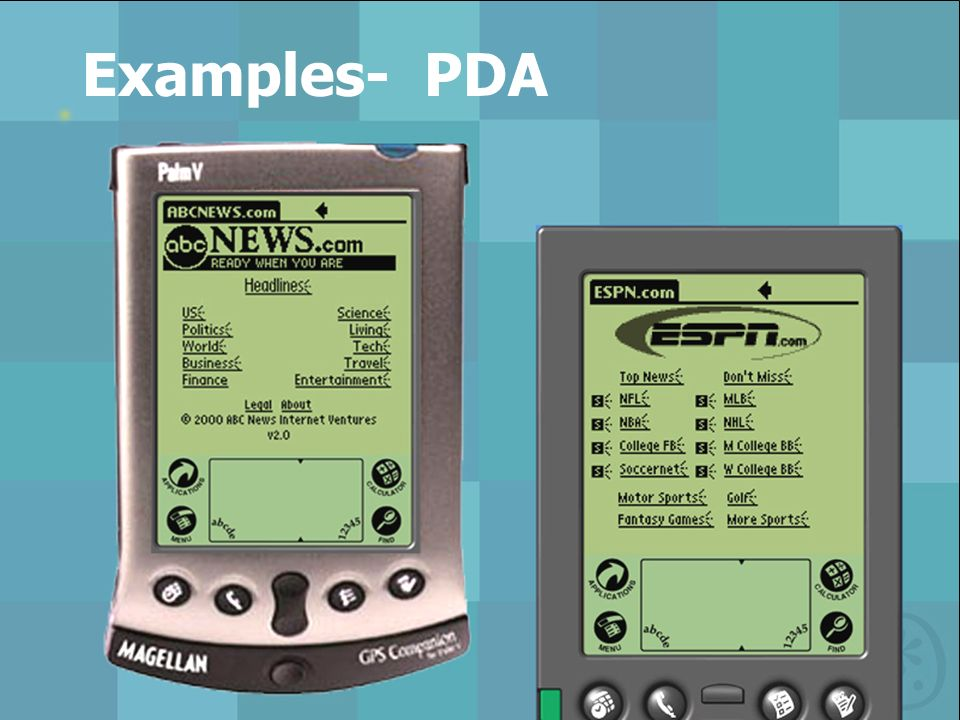 Examples- PDA