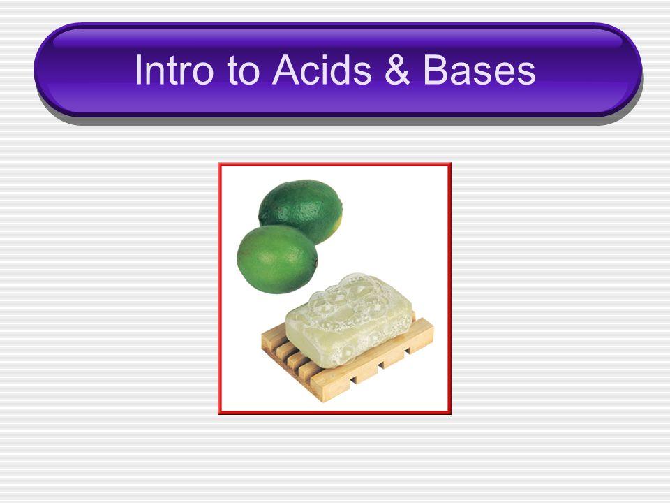 Intro to Acids & Bases