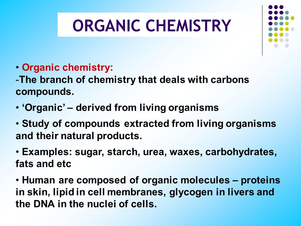 CHAPTER 8 INTRODUCTION TO ORGANIC CHEMISTRY BASIC CHEMISTRY CHM 138