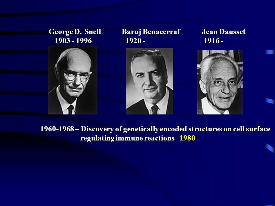 1917 - 1985 Rodney Robert Porter 1959 – structure of immunoglobulines 1972 Gerald Maurice Edelman 1929-