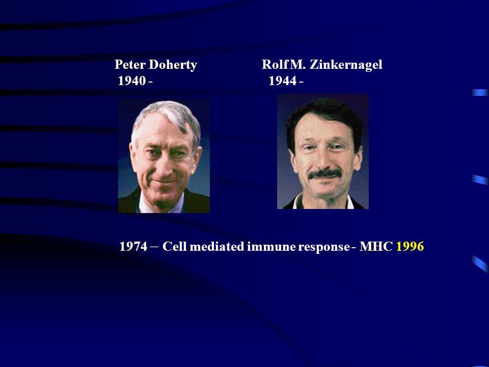 Susumu Tonegawa 1939 - 1978 - 1987 1978 - Genetic principle of antibody diversity 1987