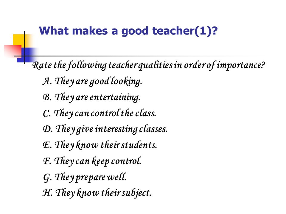 essay about good teacher