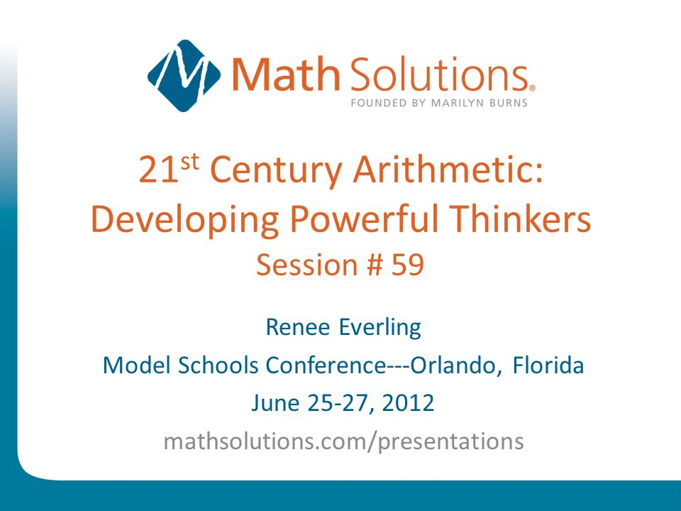 © 2010 Math Solutions 5.5 video clip
