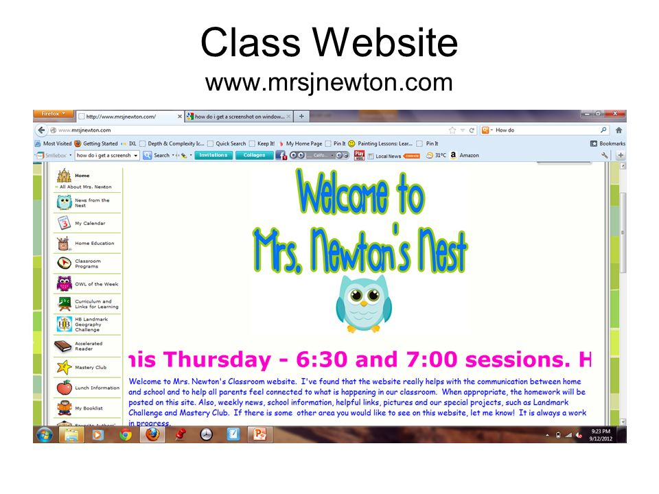 Class Website www.mrsjnewton.com