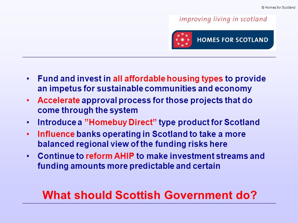 What should Scottish Government do.