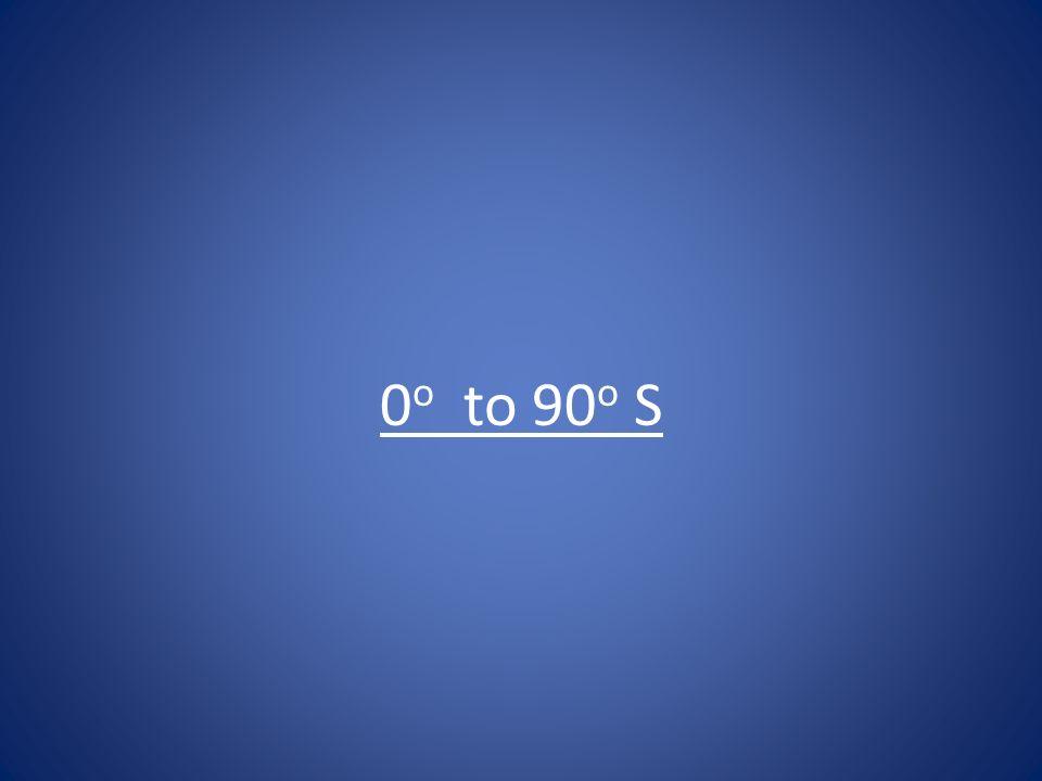 0 o to 90 o S