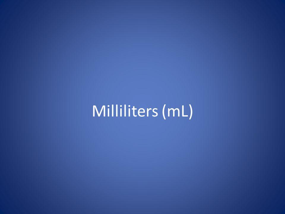 Milliliters (mL)