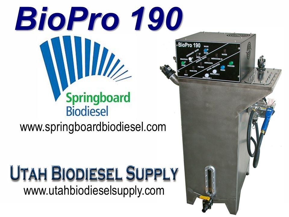 BioPro 190 www.utahbiodieselsupply.com www.springboardbiodiesel.com