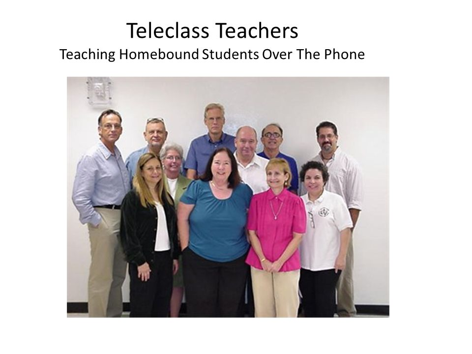 Teleclass Teachers Teaching Homebound Students Over The Phone