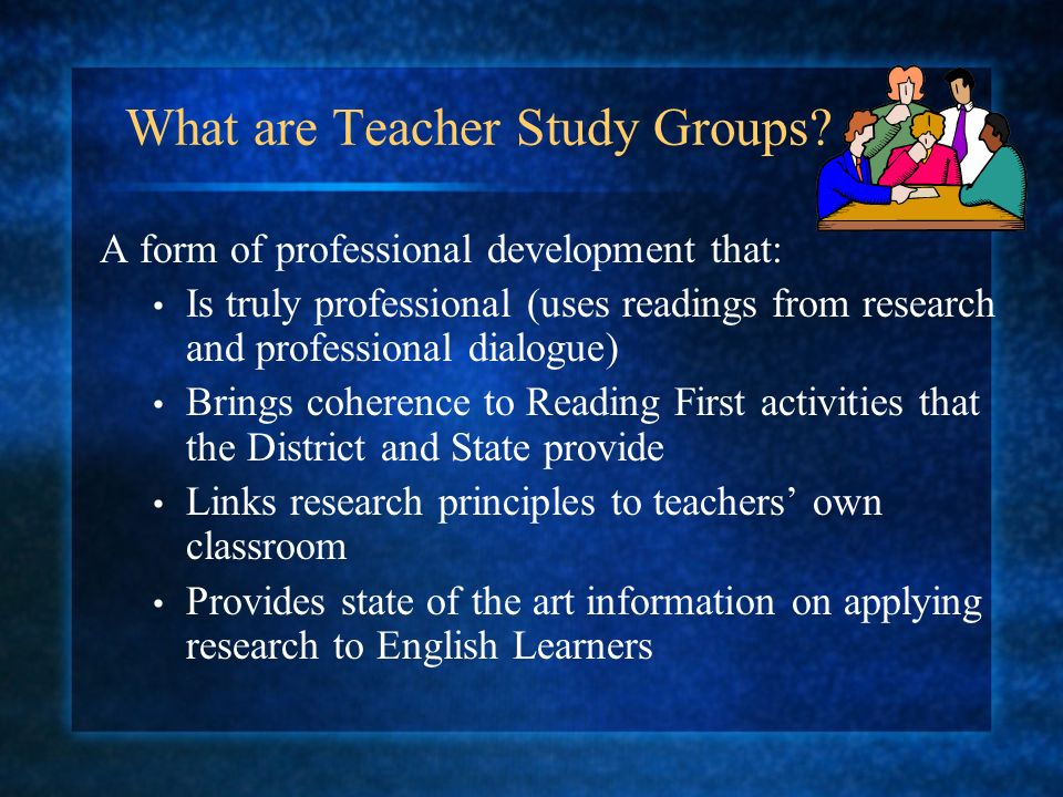 What are Teacher Study Groups.
