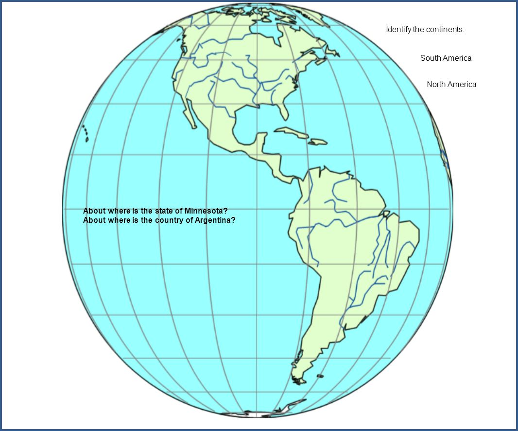 About where is the state of Minnesota. About where is the country of Argentina.