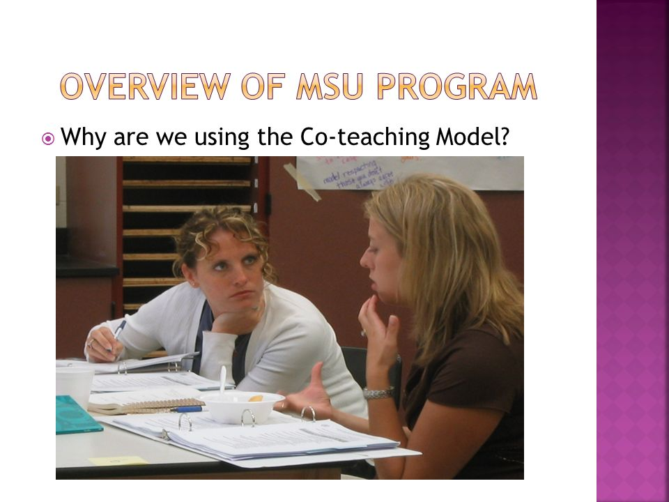 Why are we using the Co-teaching Model