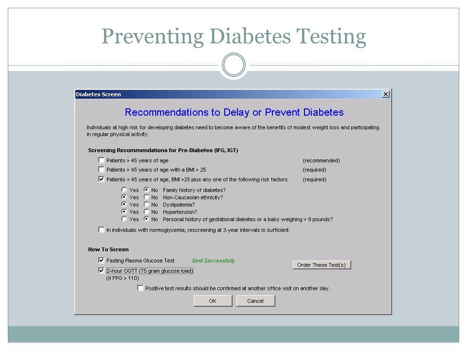 Preventing Diabetes Testing