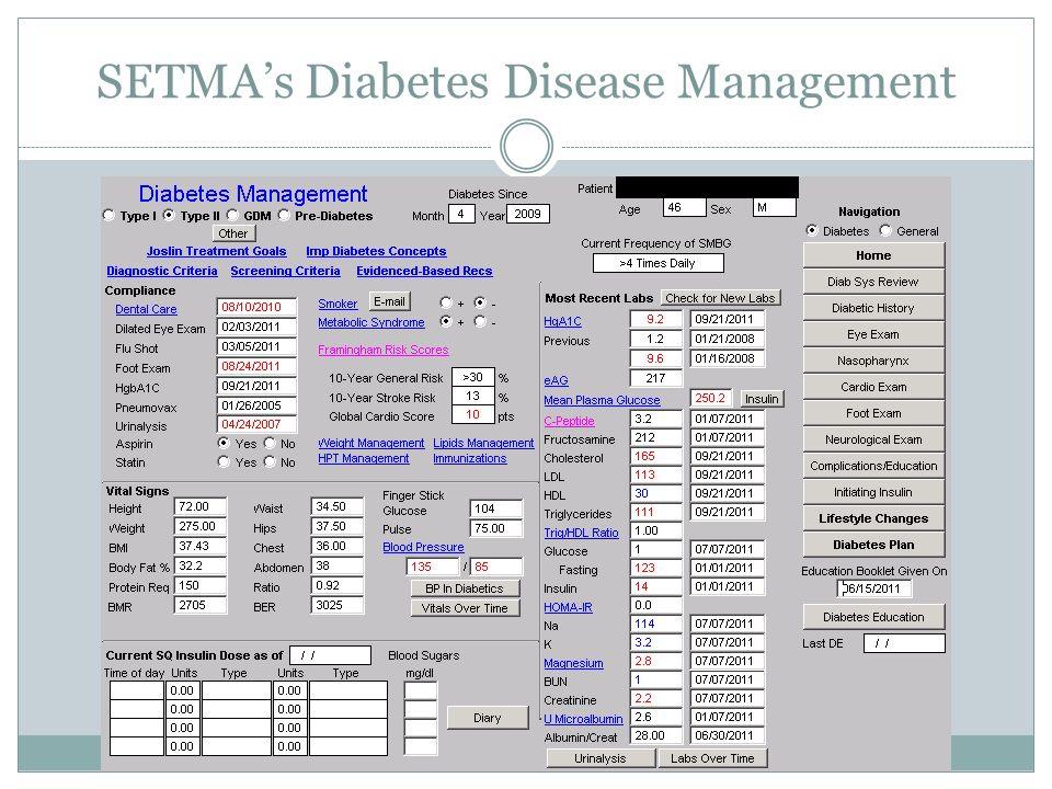 SETMAs Diabetes Disease Management