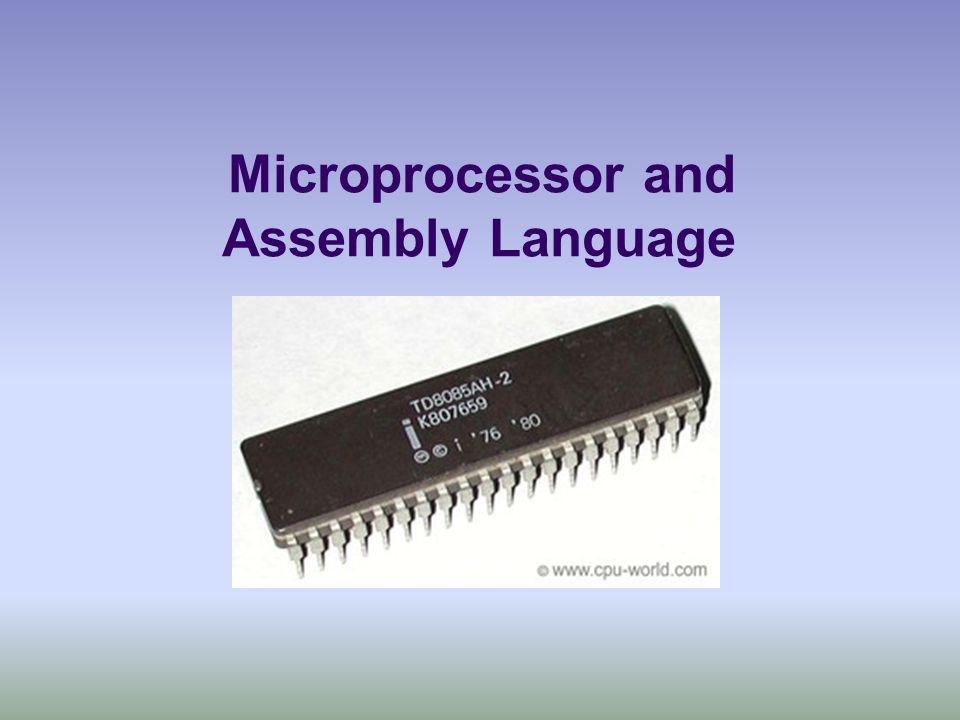 Pin Diagram of a Basic 8085 Microprocessor