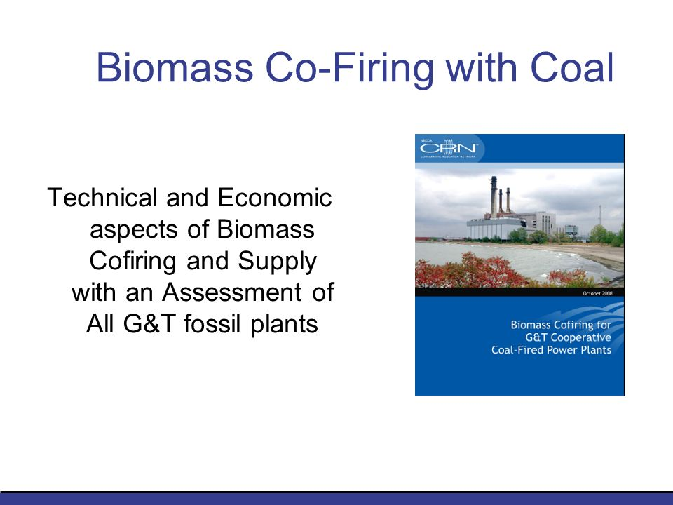 Biomass Co-Firing with Coal Technical and Economic aspects of Biomass Cofiring and Supply with an Assessment of All G&T fossil plants