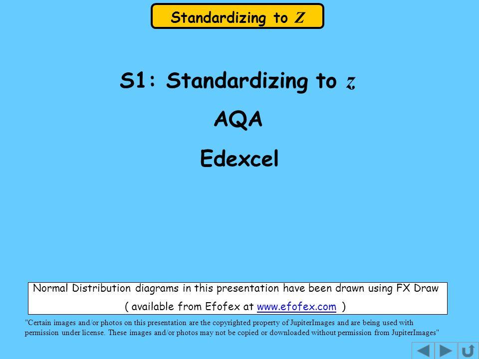 Standardizing to Z
