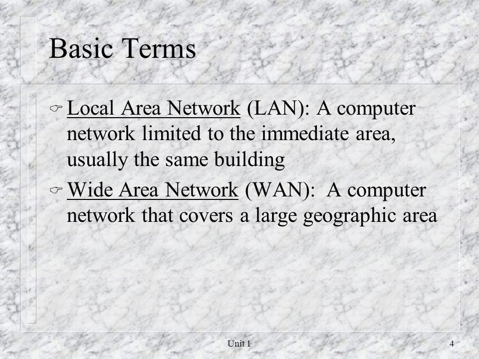Unit 13 Network Concepts Outline Communication Lines Protocols & Packets Routing & Bridging Services Client Computers & LANs