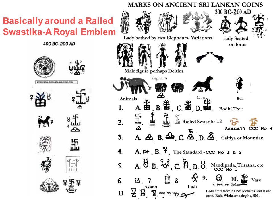 Basically around a Railed Swastika-A Royal Emblem