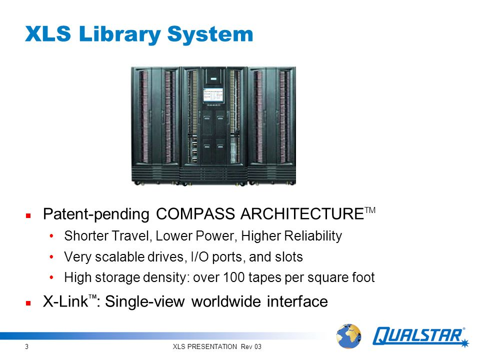XLS PRESENTATION Rev 0334 The Simply Reliable Enterprise Library System Great Partnership with Pro Technology
