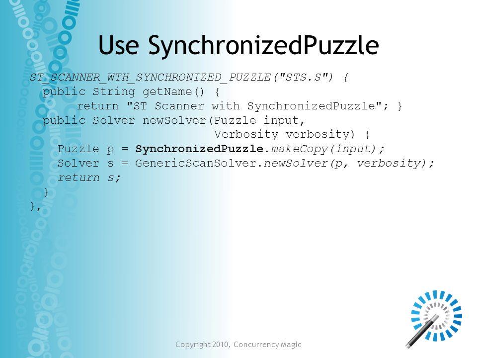 Use SynchronizedPuzzle ST_SCANNER_WTH_SYNCHRONIZED_PUZZLE(