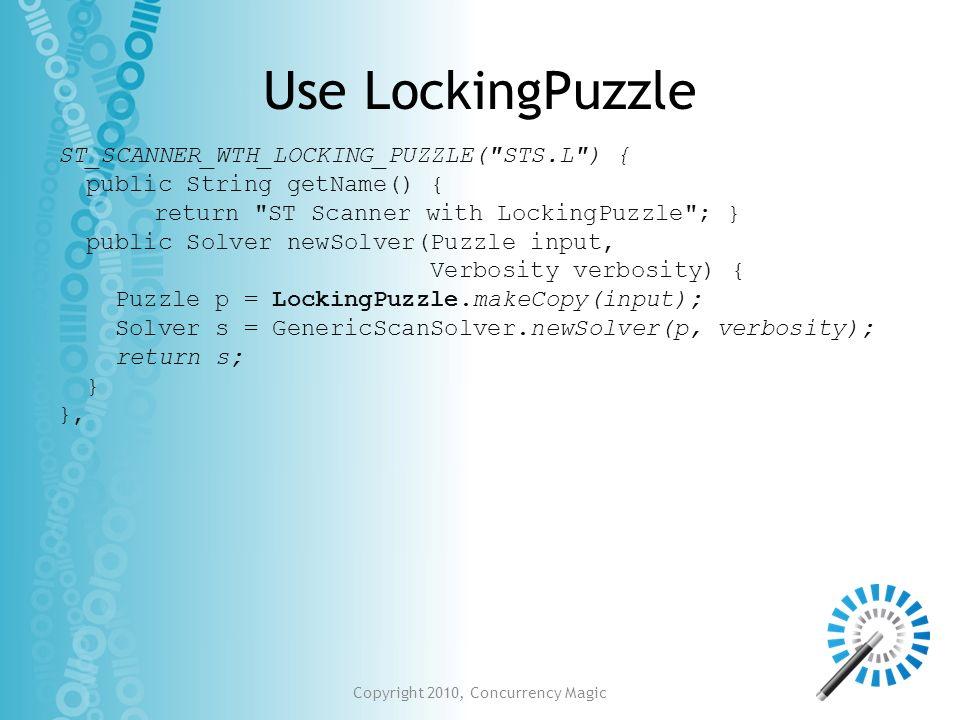 Use LockingPuzzle ST_SCANNER_WTH_LOCKING_PUZZLE(