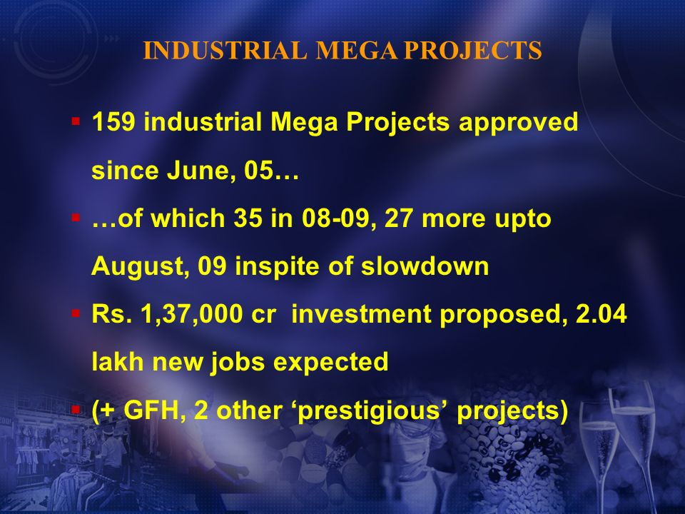 Largest project investment, high and increasing implementation rate (Projects Today) Maharashtra tops Indian States, best industrial climate for investment (followed by Gujarat, TN and AP) (New Media, with Indicus Analytics, July 2009) WHAT OTHERS SAY