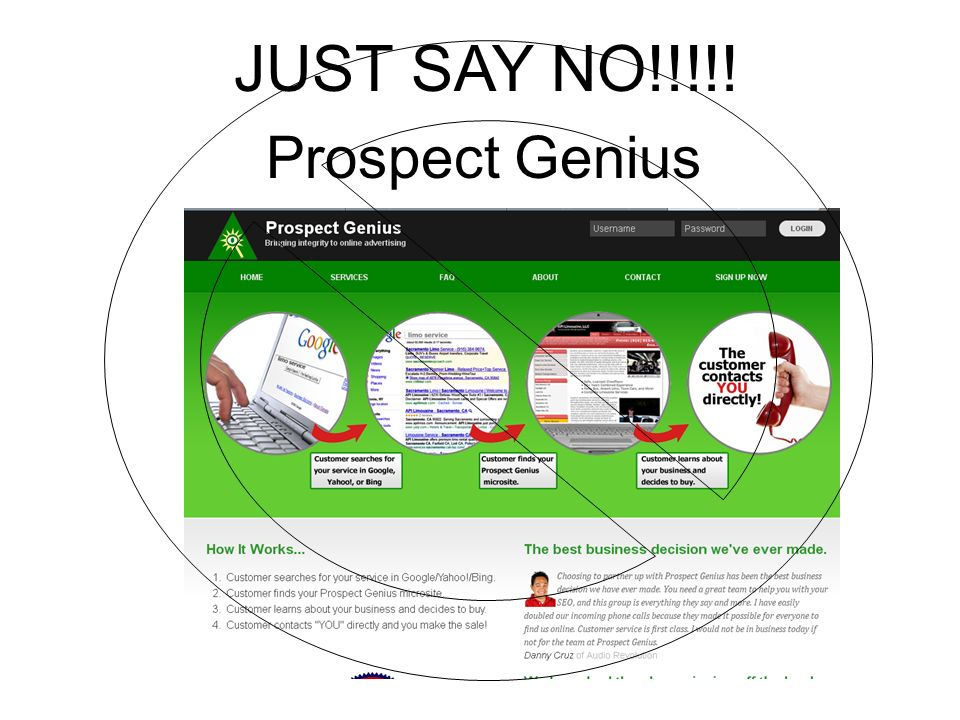 Prospect Genius JUST SAY NO!!!!!