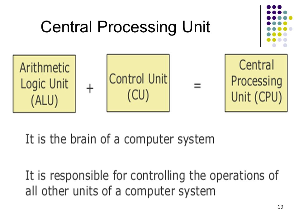 Central Processing Unit 13