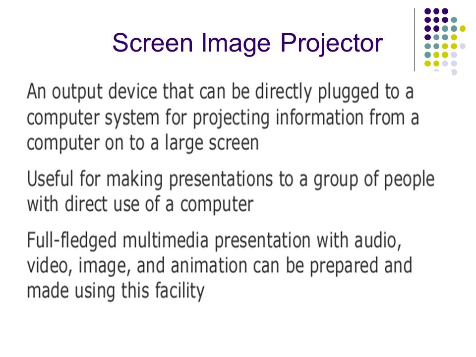 Screen Image Projector
