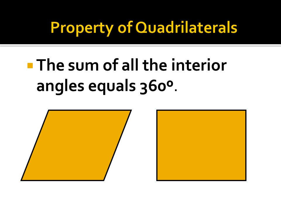 parallelogram rectangle rhombus square trapezoid quadrilateral