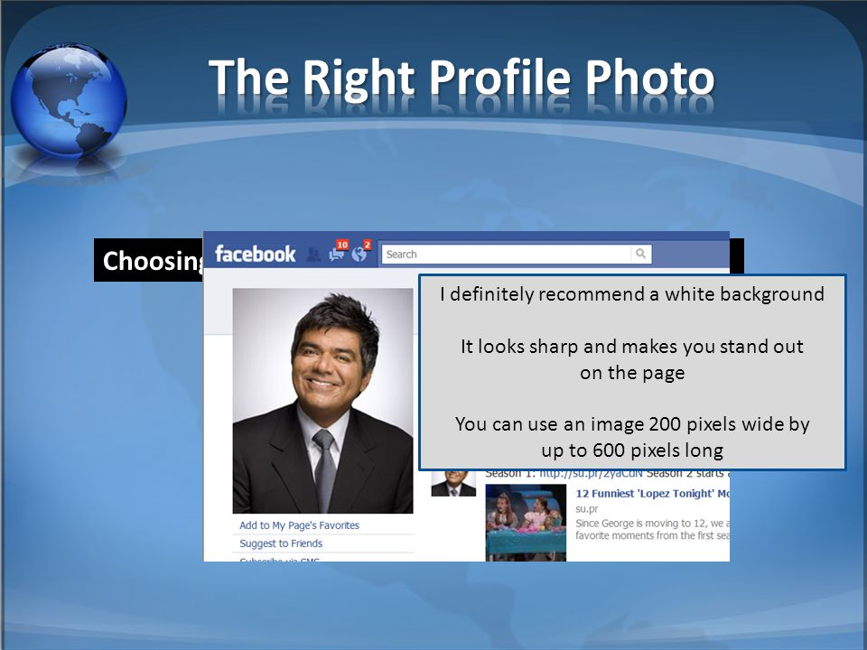 Choosing the right profile picture is very important.