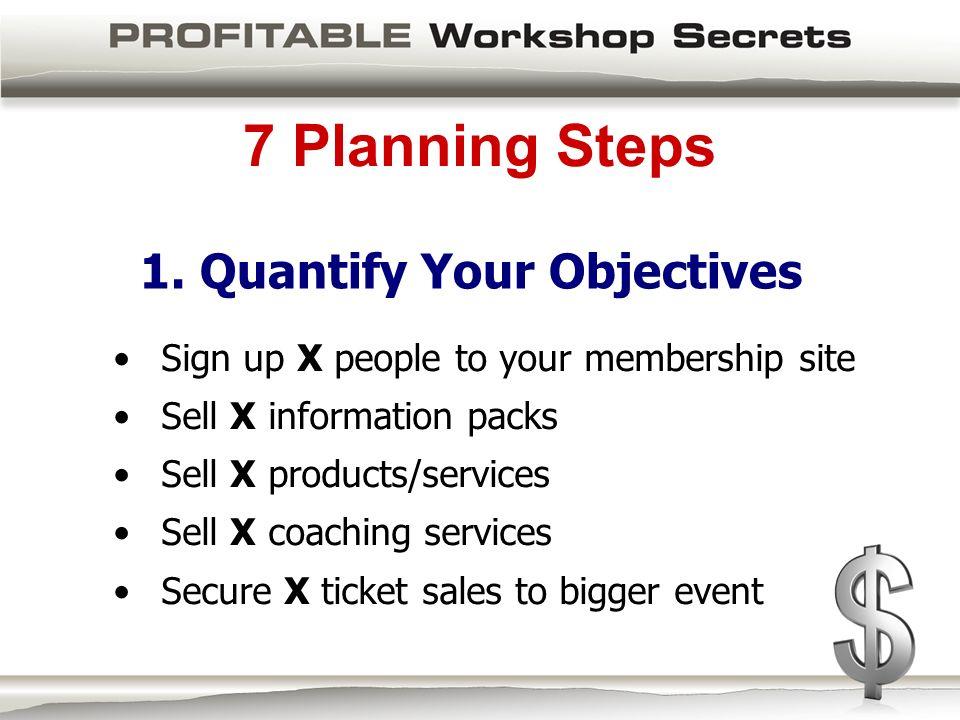 7 Planning Steps 1.