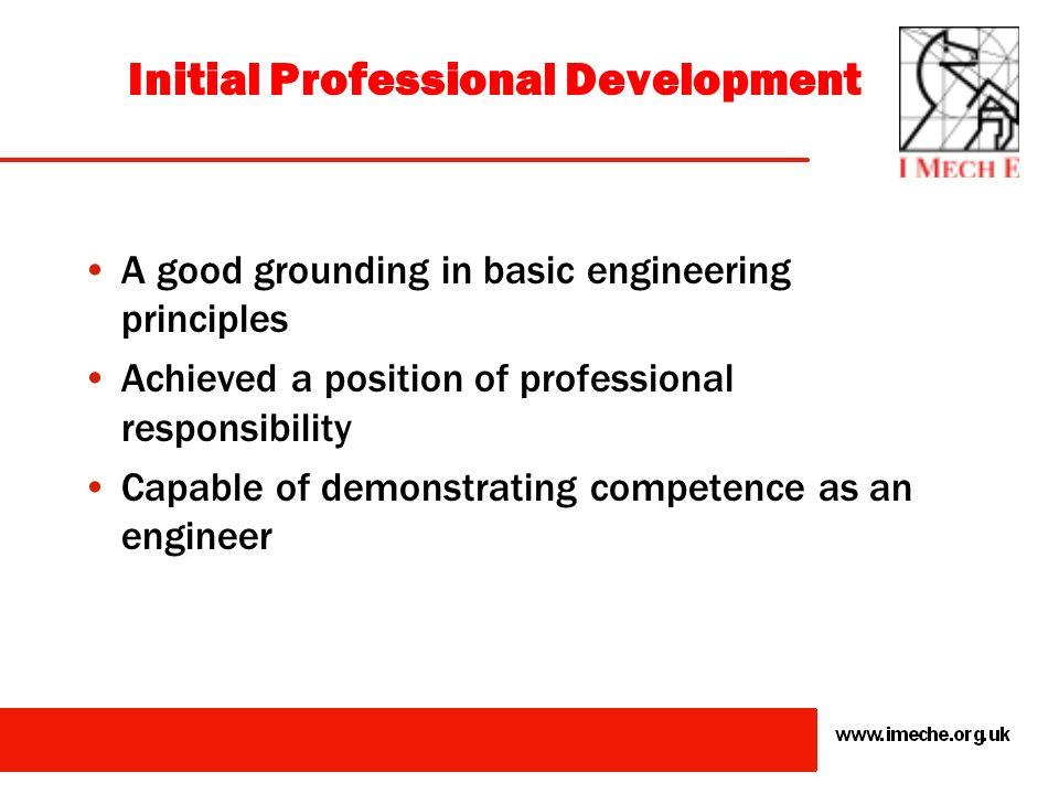 Professional Registration Initial Professional Development (IPD)