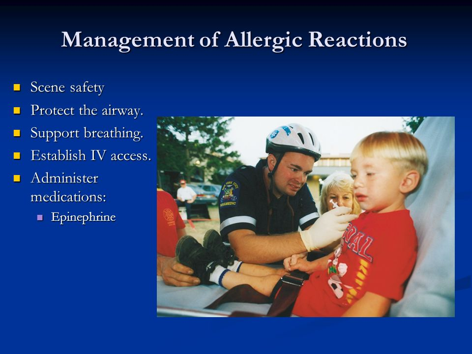 Scene safety Scene safety Protect the airway. Protect the airway. Support breathing. Support breathing. Establish IV access. Establish IV access. Admi