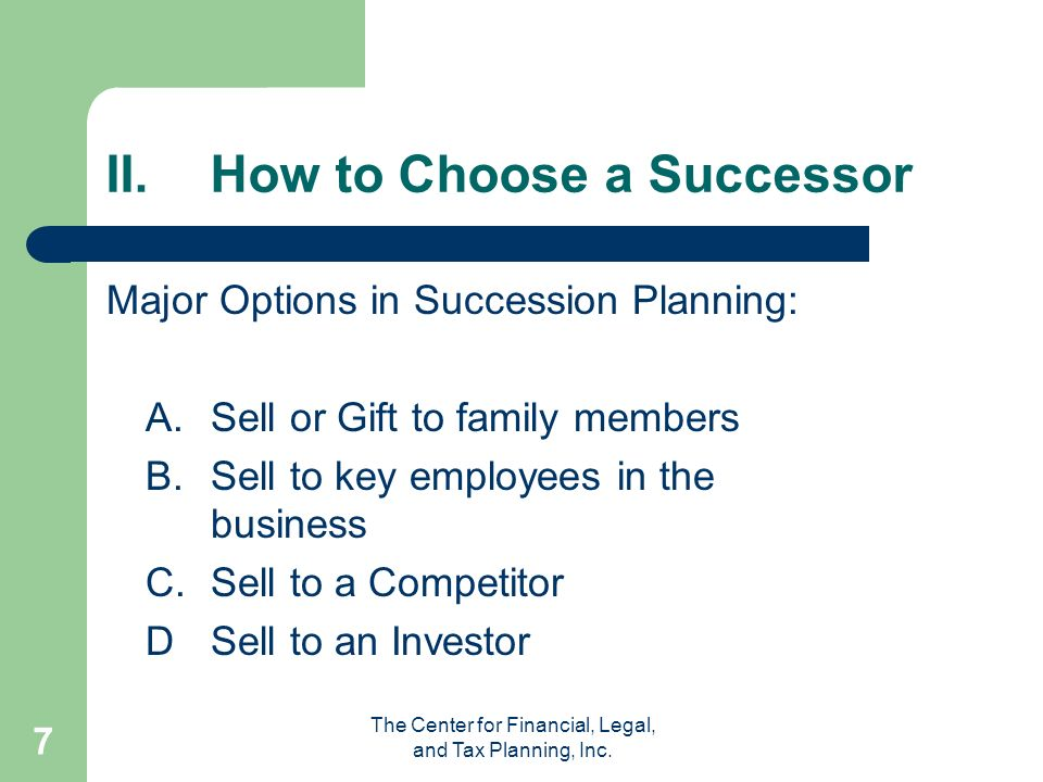The Center for Financial, Legal, and Tax Planning, Inc.