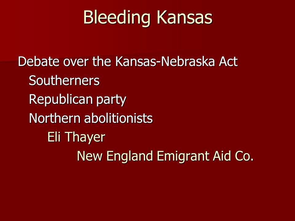Violence in Kansas border ruffians Lawrence, Kansas John Brown Pottawatomie Creek Massacre