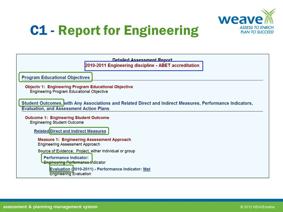 C1 - Report for Engineering