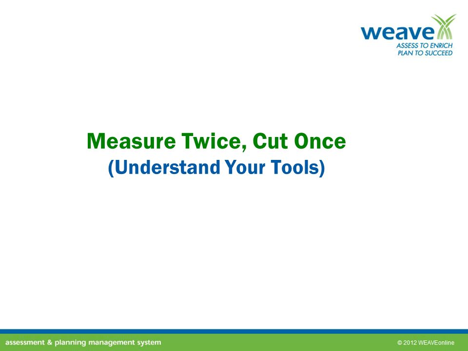 Measure Twice, Cut Once (Understand Your Tools)