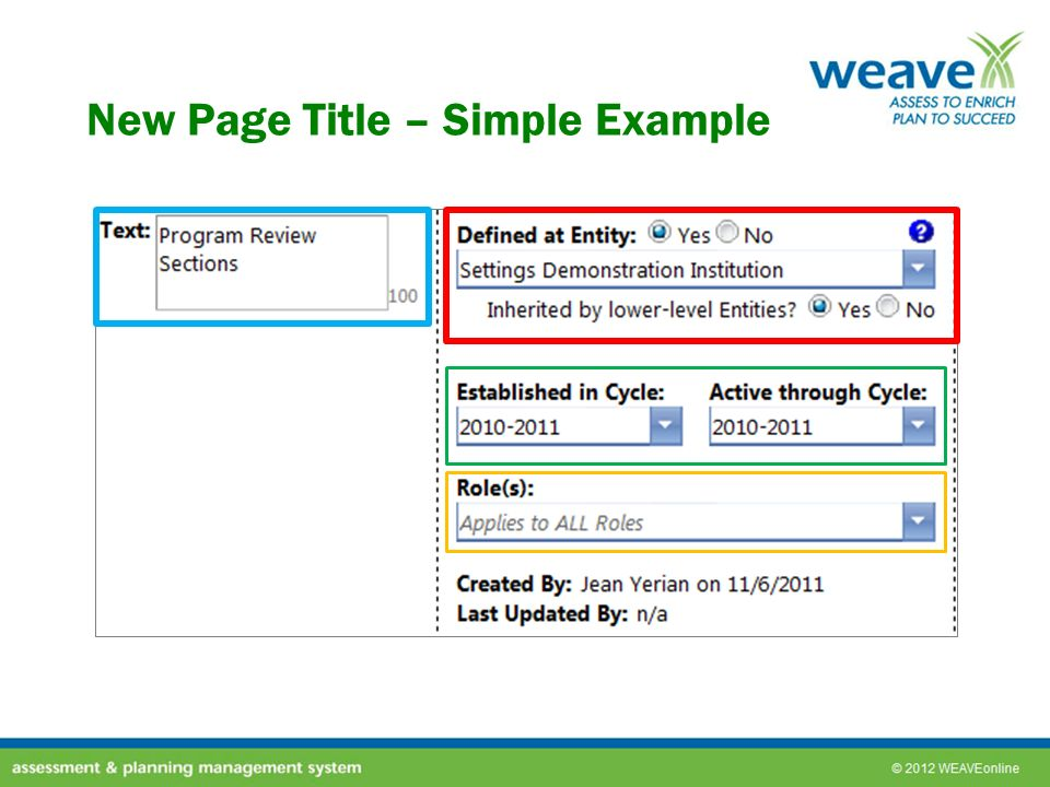 New Page Title – Simple Example