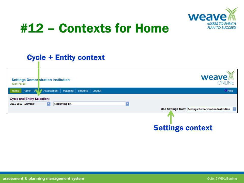 #12 – Contexts for Home Cycle + Entity context Settings context