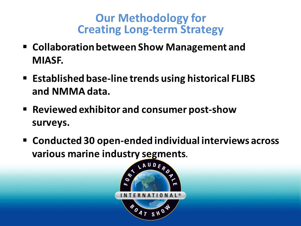 Our Methodology for Creating Long-term Strategy Collaboration between Show Management and MIASF.